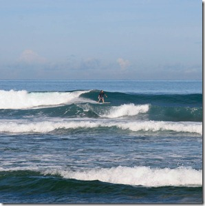 A Surfer at Sawarna