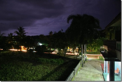 Homestay Batara Illuminated by a Lightning Storm