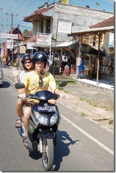 Riding Ojek on Bali