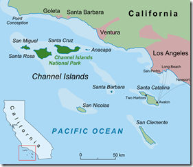 Californian Channel Islands Map