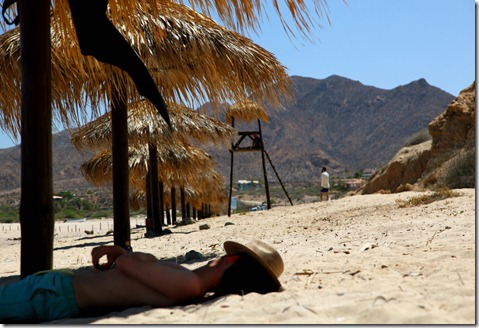 Relaxing on the Beach at Los Frailes